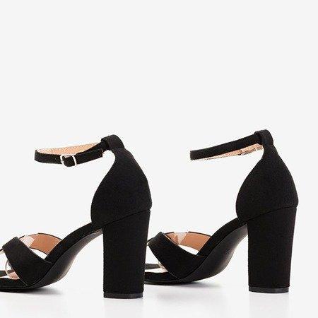 Чорні босоніжки з більш високим каблуком Molanda - Взуття