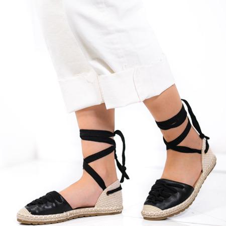 Чорні еспадрільї, пов'язані стрічкою Balea - Взуття