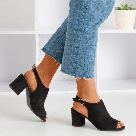 Чорні жіночі босоніжки на верхньому пості Vikash - Взуття 1