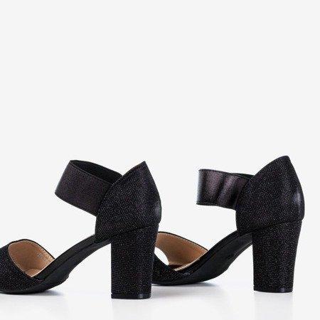Чорні жіночі босоніжки на високій посаді Megsa - Взуття 1
