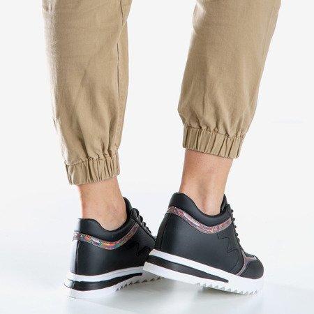 Чорні жіночі кросівки на закритому клині. Підміргнути - Взуття 1