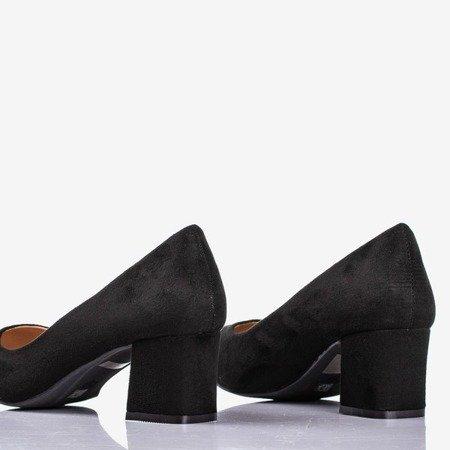 Чорні жіночі насоси на низькому посту Дай любов - Взуття 1