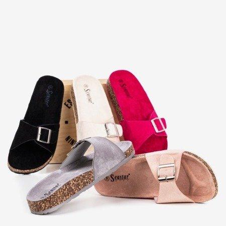 Чорні жіночі тапочки із пряжкою Lovinka - Взуття