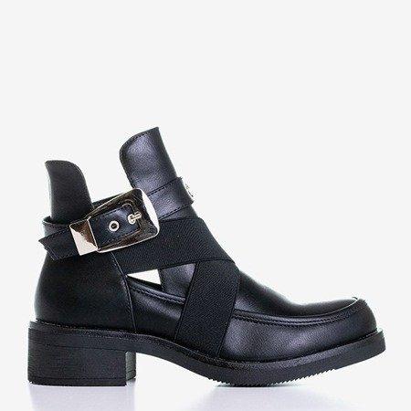 Чорні жіночі щиколотки з вирізами від Creila - Взуття