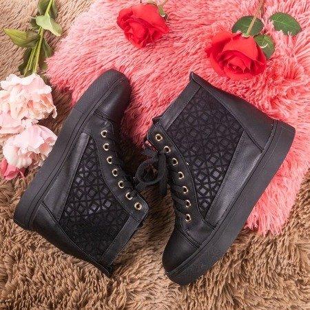 Чорні спортивні кросівки на закритому клині Balisca - Взуття 1