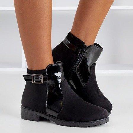 Чорні чоботи жіночі з пряжкою Konzuma - Взуття