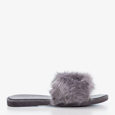 Шерстяні шльопанці з сірого Градо - Взуття 1