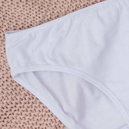 Білі жіночі бавовняні труси PLUS SIZE - Нижня білизна