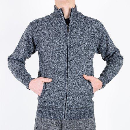 Чоловічий чорний светр на блискавці - Одяг