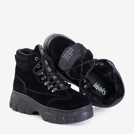 Чорні утеплені жіночі черевики-трапери Mituran - Взуття
