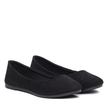 Czarne balerinki- Obuwie