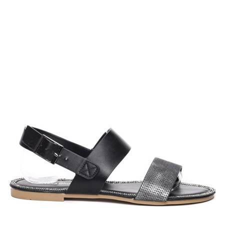 Czarne sandały - Obuwie