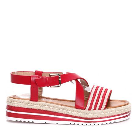 Czerwone sandałki Aleah- Obuwie