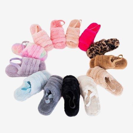 Ніжно-рожеві жіночі тапочки з хутром Fornax - Взуття