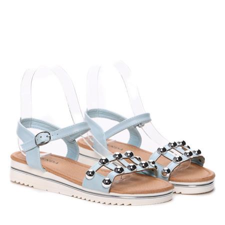 Niebieskie sandały - Obuwie