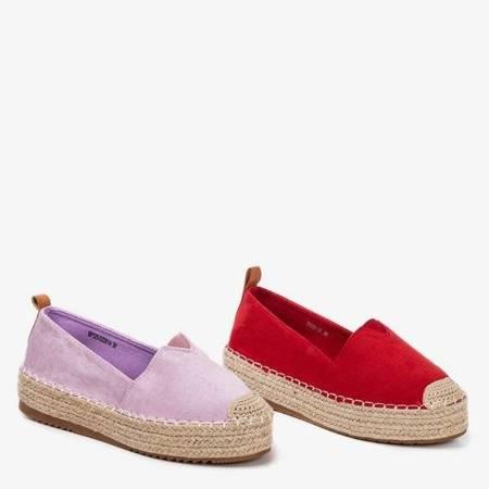 OUTLET Червоні еспадрільї на платформі Umox - Взуття