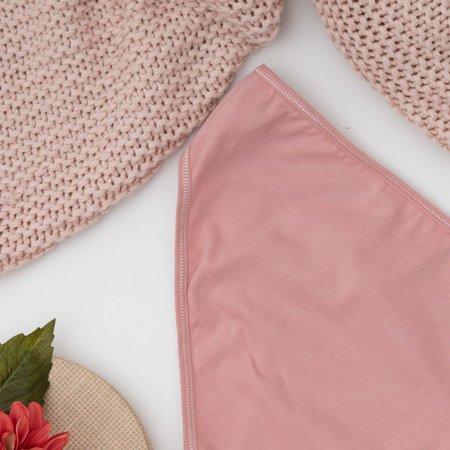 Рожеві жіночі бавовняні трусики PLUS SIZE - нижня білизна