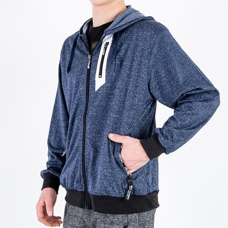 Темно-синій чоловічий світшот - Одяг