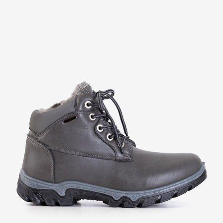 Темно-сірі жіночі черевики-трапери Huran - Взуття