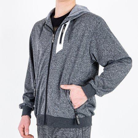 Темно-сірий чоловічий світшот - Одяг