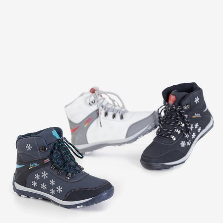 Жіночі білі черевики зі сніжинками Flakes  - Взуття