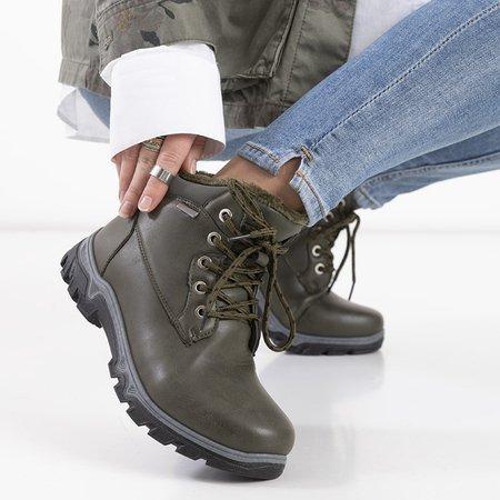 Жіночі черевики-трапери в кольорі хакі Huran - Взуття