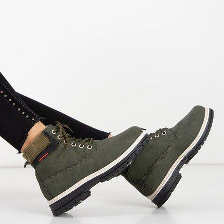 Жіночі утеплені черевики в кольорі хакі Triniti - Взуття