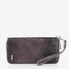 Великий фіолетовий жіночий гаманець a'la snake skin - Гаманець