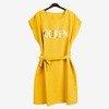 Жовте жіноче плаття з написом - Плаття 1