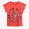 Жіноча коралова футболка з квітковим принтом - Одяг 1