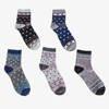 Жіночі різнокольорові гомілковостопні шкарпетки 5 / упак. - Шкарпетки