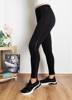 Жіночі чорні гетри з срібними смугами - Одяг