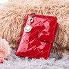 Лакований невеликий жіночий гаманець у червоному кольорі - Гаманець