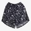 Чорні жіночі короткі квіткові шорти - Одяг 1