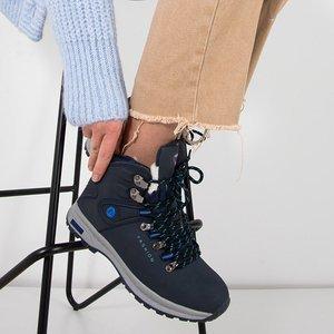 Темно-сині жіночі утеплені черевики Inesa - Взуття